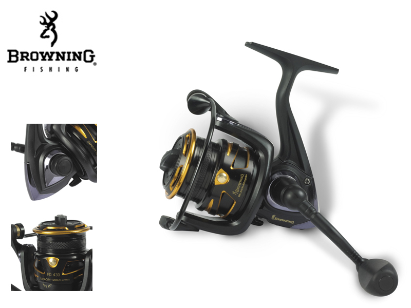Browning Black Magic� FD 420(m / mm: 155 / 0,16, Gear Ratio: 5,1:1, Retrieve: 59 cm, BB: 4, Drag F.: 4,5 kg / 10 lbs, W: 260g)