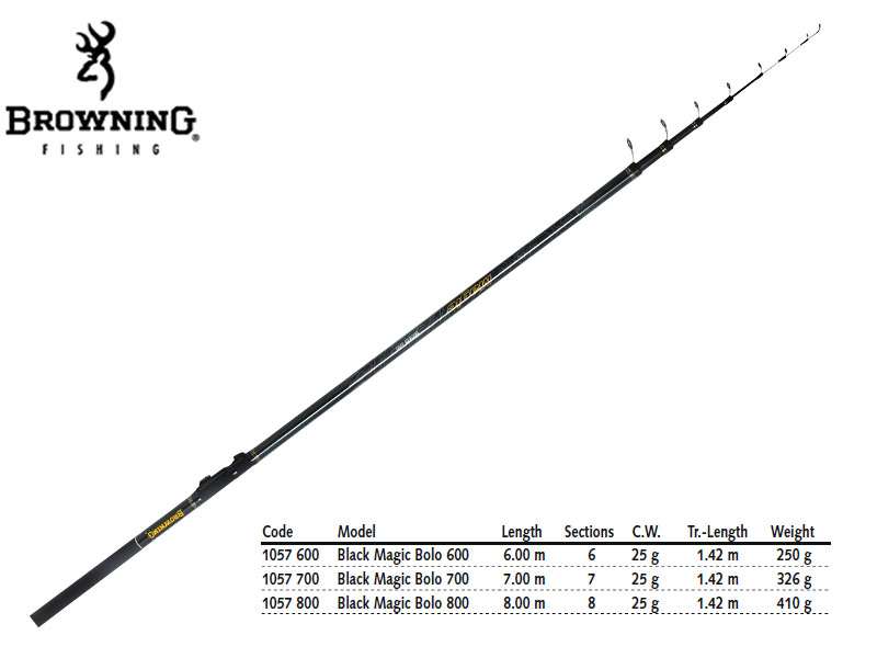 Browning Black Magic® Bolo (Length: 600mt, CW: 25g, Weight: 220gr)