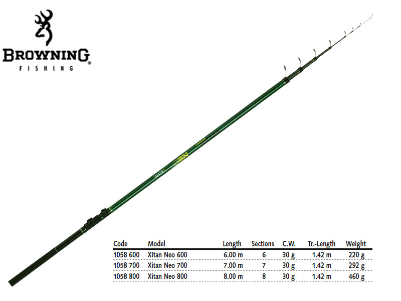 Browning Xitan Neo Bolo (Length: 600mt, CW: 30g, Weight: 220gr)