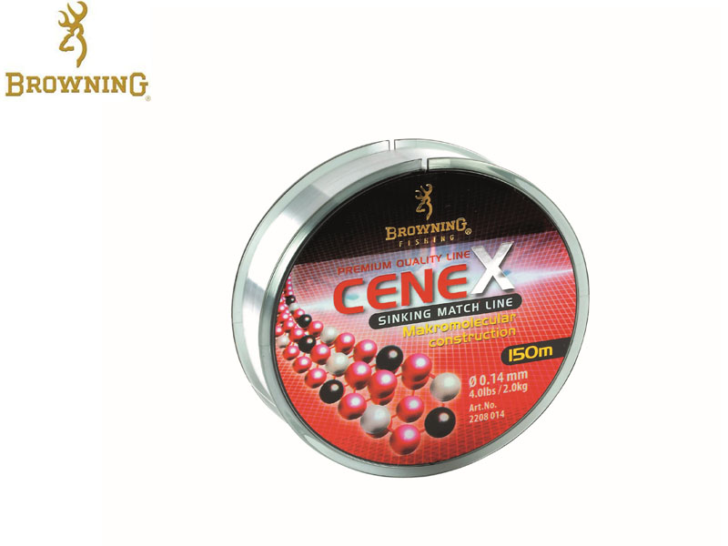 Browning Sinking Line CeneX 150mt (0.14mm, 2kg, 4lb, 150mt)