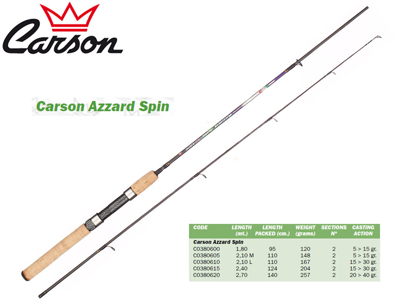 Carson Azzard Spin Rods (1.80m, Action: 5-15gr)