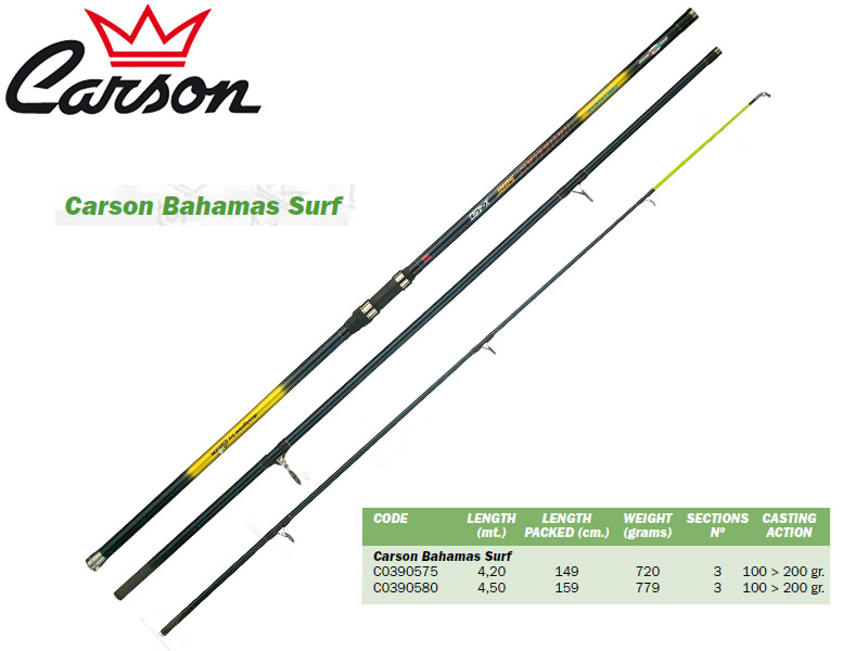 Carson Bahamas Surf (4.20m, Action: 100-200gr)