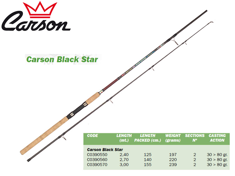 Carson Black Star Rods (2.40m, Action: 30-80gr)