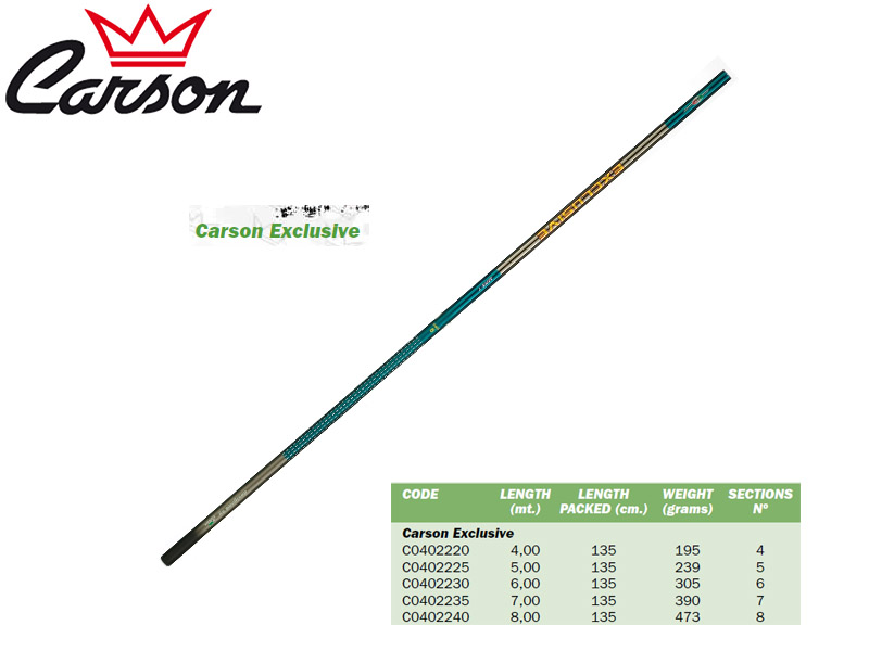 Carson Exclusive Telescopic Pole (4.00m, Weight: 195gr)