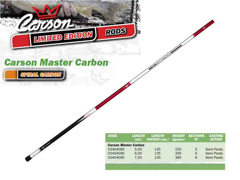 Carson Master Carbon Telescopic Whips (6.00m, Weight: 295gr)
