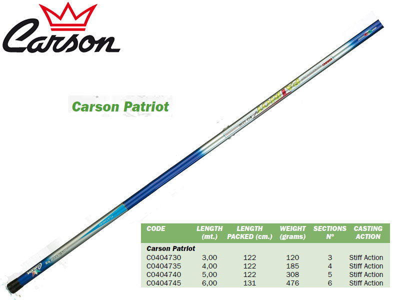 Carson Patriot Telescopic Whips (5.00m, Weight: 308gr)