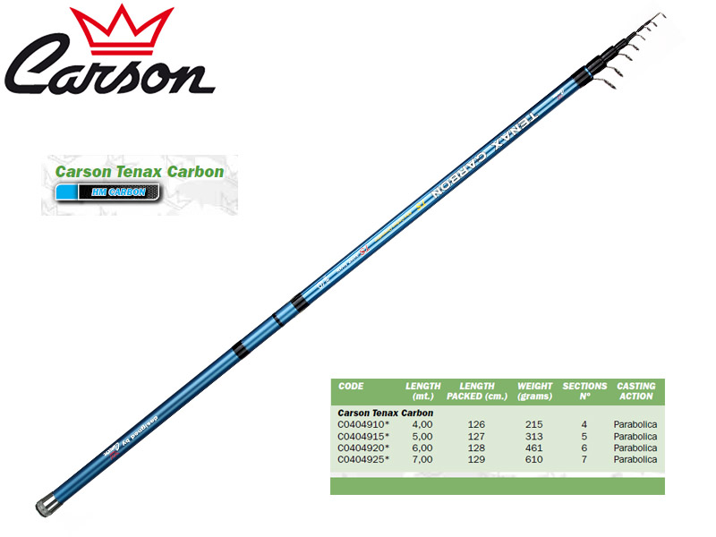 Carson Tenax Carbon Bolognese (4.00m, Weight: 215gr)