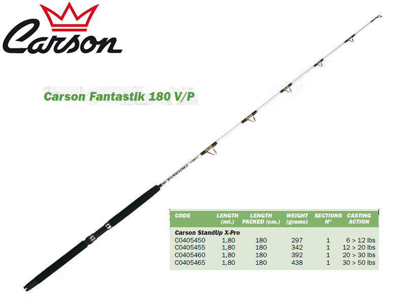 Carson Fantastik 180 V/P Stand-Up Rods (1.80m, Action: 6-12lbs)