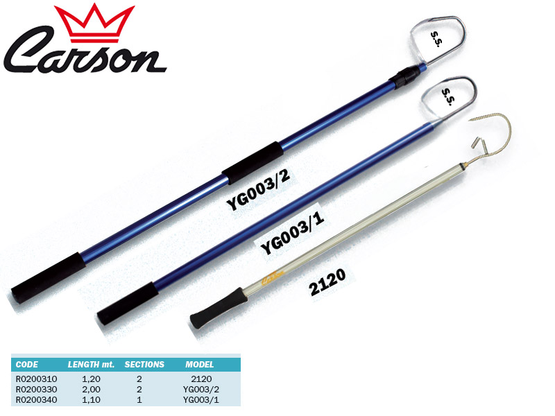 Carson Telescopic Gaff 2120 (Length: 1.20m, Sections: 2)
