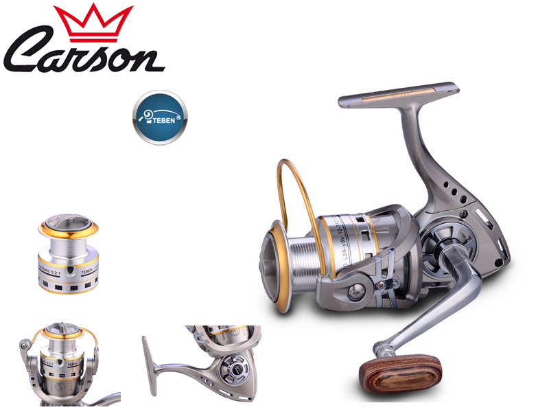 Carson Teben Jet-200 Reel (Model: JET, Size: 200, Capacity (mm/mt): 0.18/370, BB: 10, Weight: 248g, Ratio: 5,2:1)