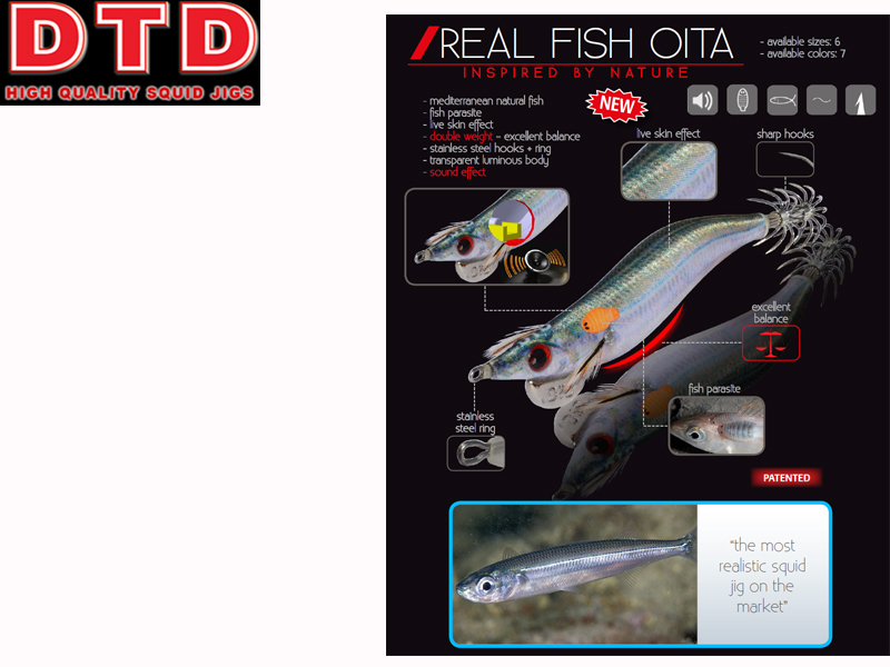 DTD Squid Real Fish Oita (Size:2.5, Color: Pagro)