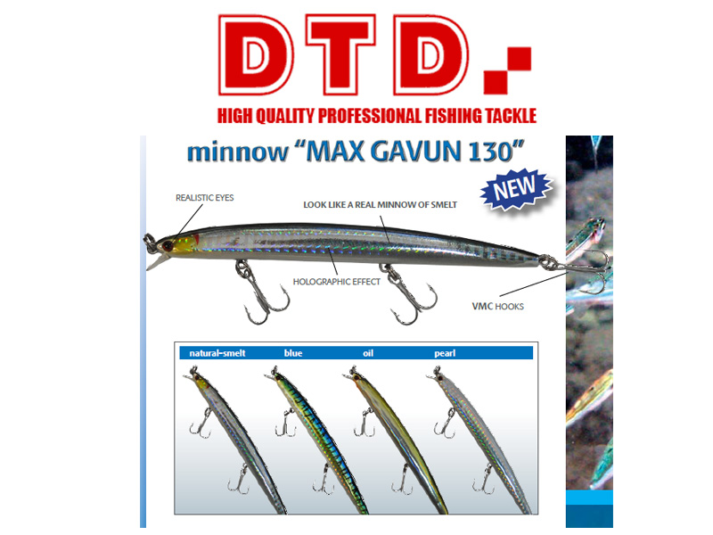 DTD Minnow Max Gavun (100mm, Colour: Natural Smelt.)