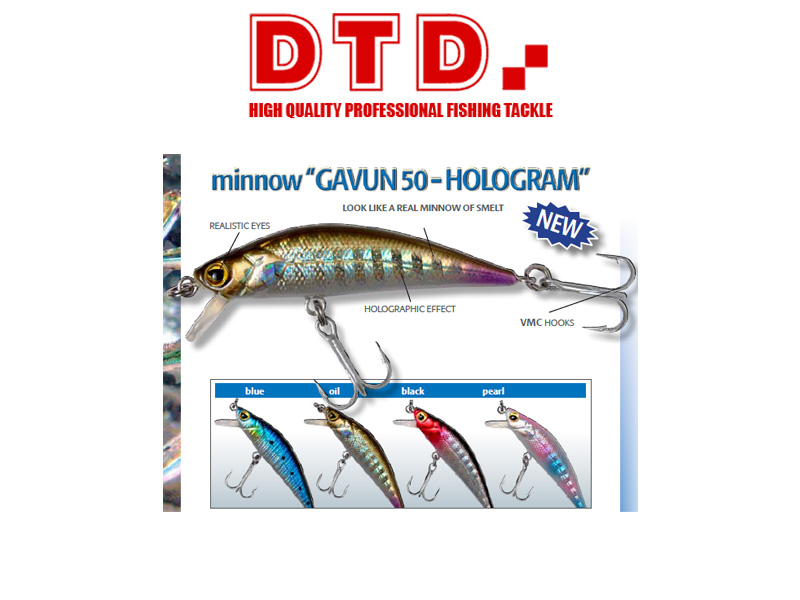 DTD Minnow Gavun Hologram (50mm,Colour: Pearl)