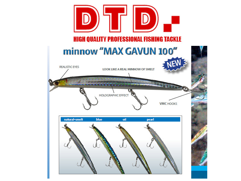 DTD Minnow Max Gavun (100mm, Colour: Blue)