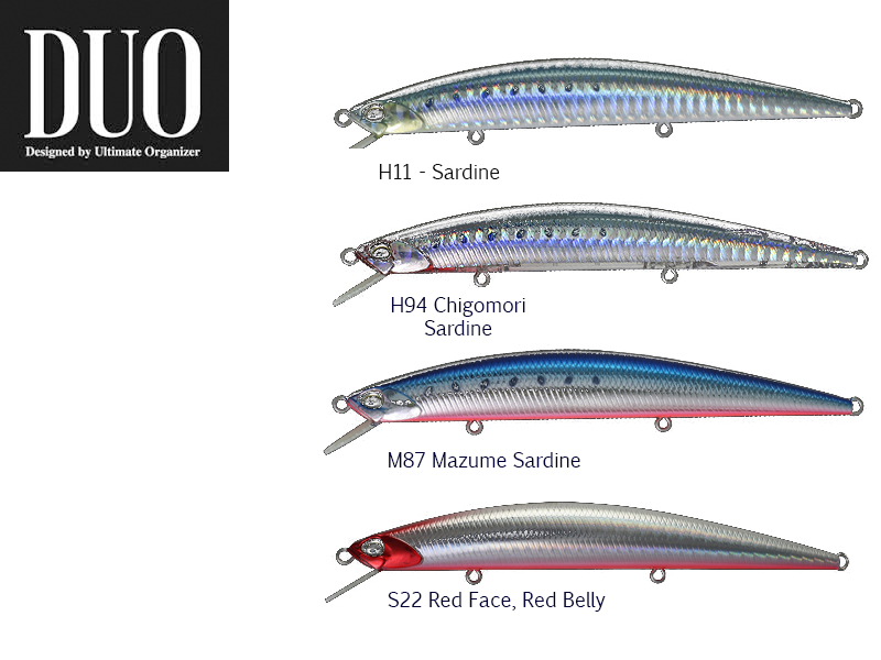 DUO MOAB 120F Lures (Length: 120mm, Weight: 13g, Model: H11 Sardine)