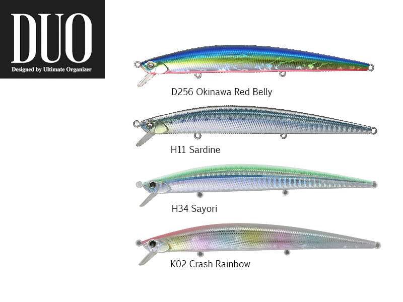 DUO Slim Tide Minnow 140 Flyer Lures (Length: 140mm, Weight: 21g, Model: Crash Rainbow)