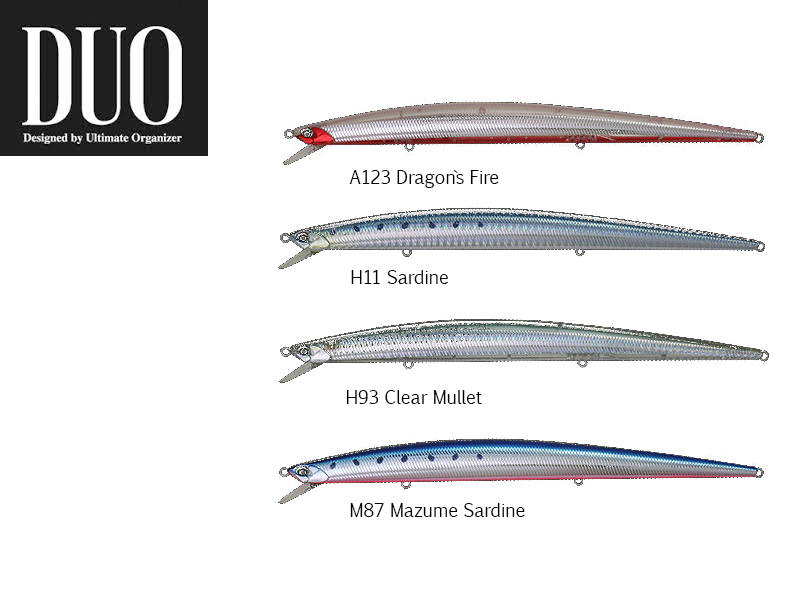 DUO Tide-Minnow Slim 200 Lures (length: 200mm, Weight: 27g, Model: Clear Mullet)