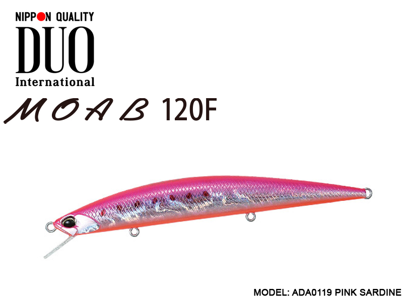 DUO MOAB 120F Lures (Length: 120mm, Weight: 13g, Model: ADA0119 PINK SARDINE)
