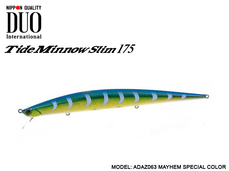 DUO Tide-Minnow Slim 175 Lures (Length: 175mm, Weight: 27g, Color: ADAZ063 MAYHEM SPECIAL)