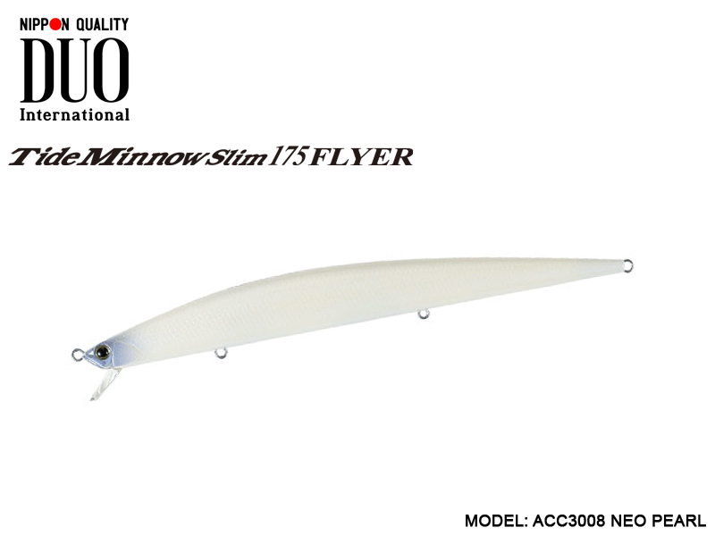 DUO Tide Minnow Slim 200 (Length: 200mm, Weight: 27gr, Color: GHN0172 Clear Bue Back)