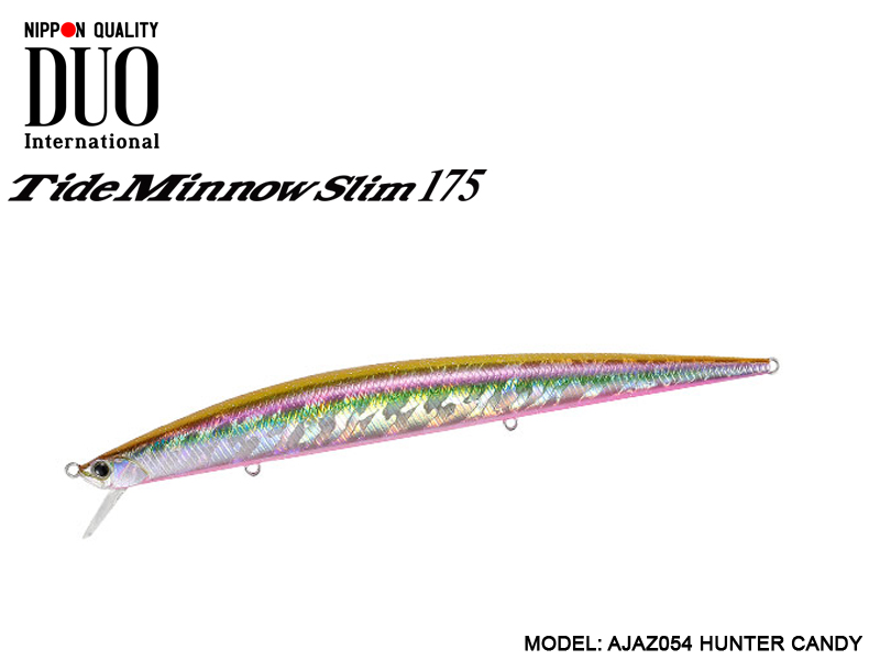 DUO Tide-Minnow Slim 175 Lures (Length: 175mm, Weight: 27g, Color: AJAZ054 Hunter Candy)