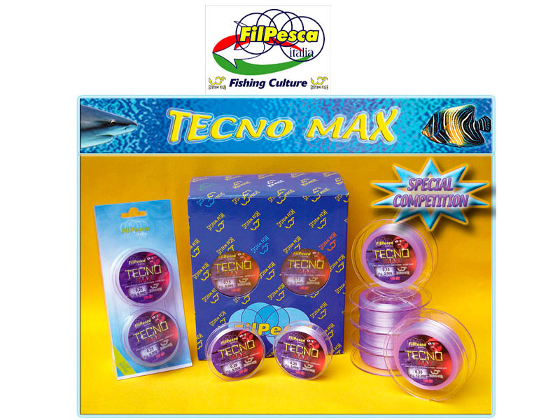Filpesca Tecno Max Lines (Size: 0.22mm, 6.70kg, Length: 150x2 connected)