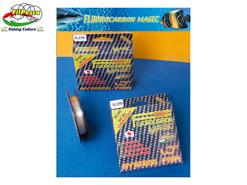 Filpesca Fluorocarbon Magic (Size: 0.450mm, 16.900kg, 37.25lb, Length: 130m)