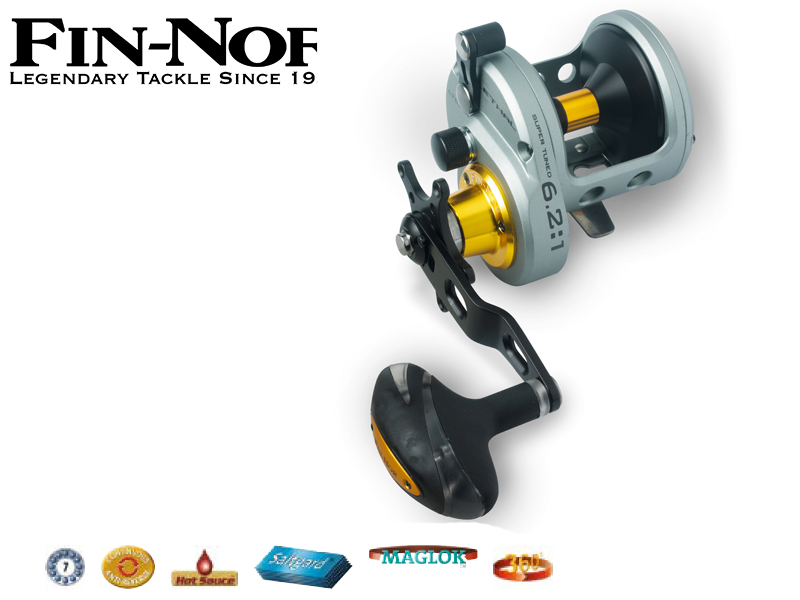 Fin-Nor Lethal LTC H (Model: 16, m / mm: 320 / 0,46, Gear Ratio: 6.2:1, Retrieve: 124 cm, BB: 7, Drag F.: 25 lbs, Weight: 666g)