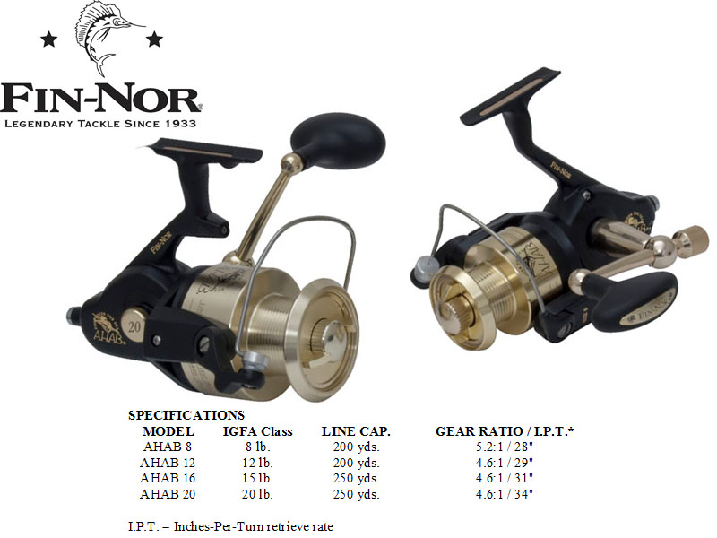 Fin-Nor Ahab Spinning Reel 12