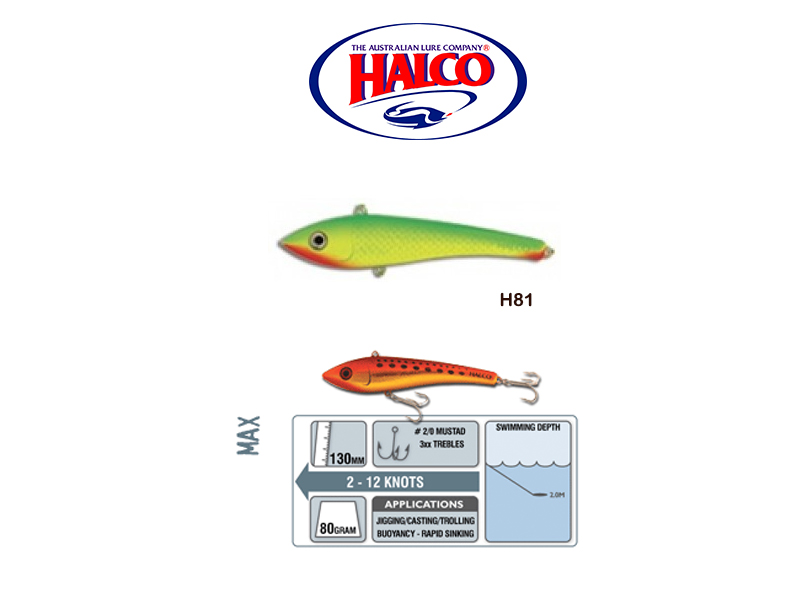 Halco Max 130 (130mm, 80gr, Color: H81)