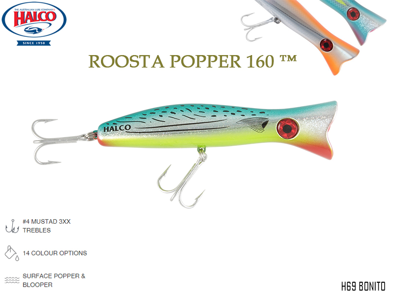 Halco Roosta Popper 160 (Length: 160mm, Weight: 75gr, Color: H69)