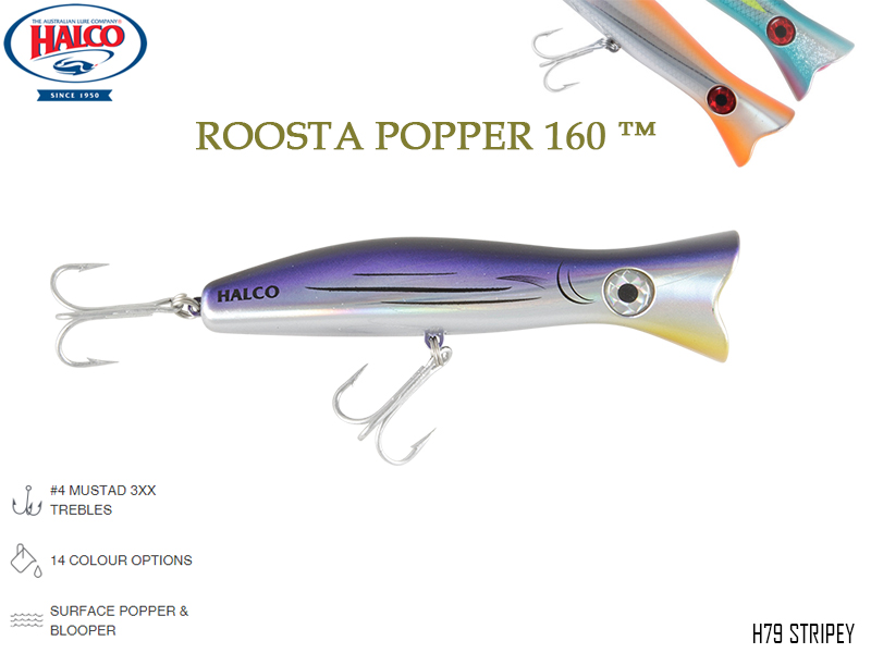 Halco Roosta Popper 160 (Length: 160mm, Weight: 75gr, Color: H79)