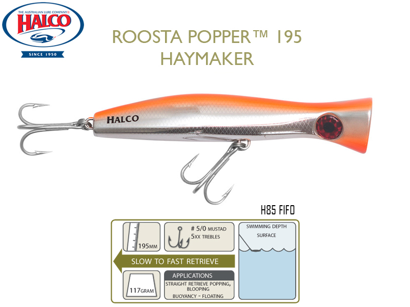 Halco Roosta Popper 195 (195mm, 110gr, Color: H85)