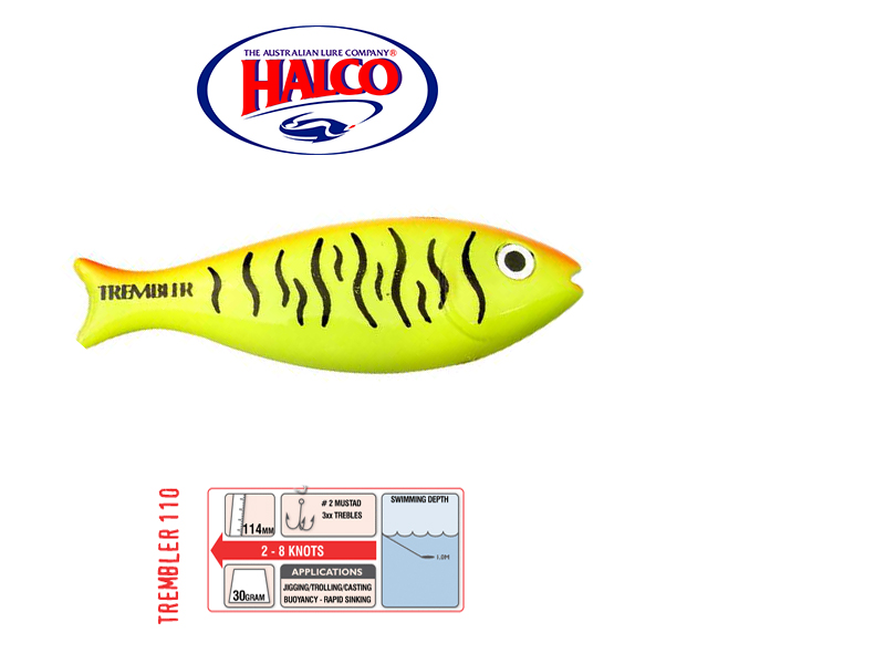 Halco Trembler 110 (114mm, 30gr, Color: R8)