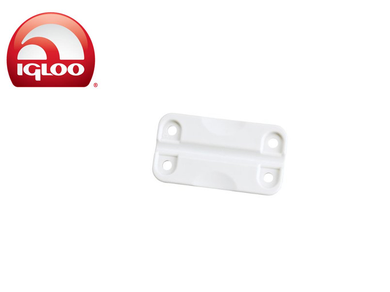 Igloo Hinges White Plastic - Pair