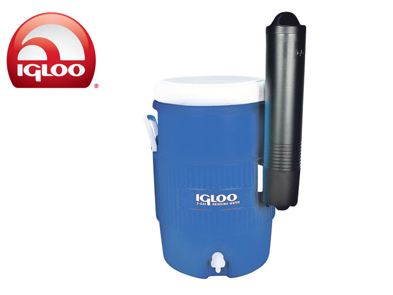 Igloo 5 Gal Seat Top Blue With Cup Dispenser