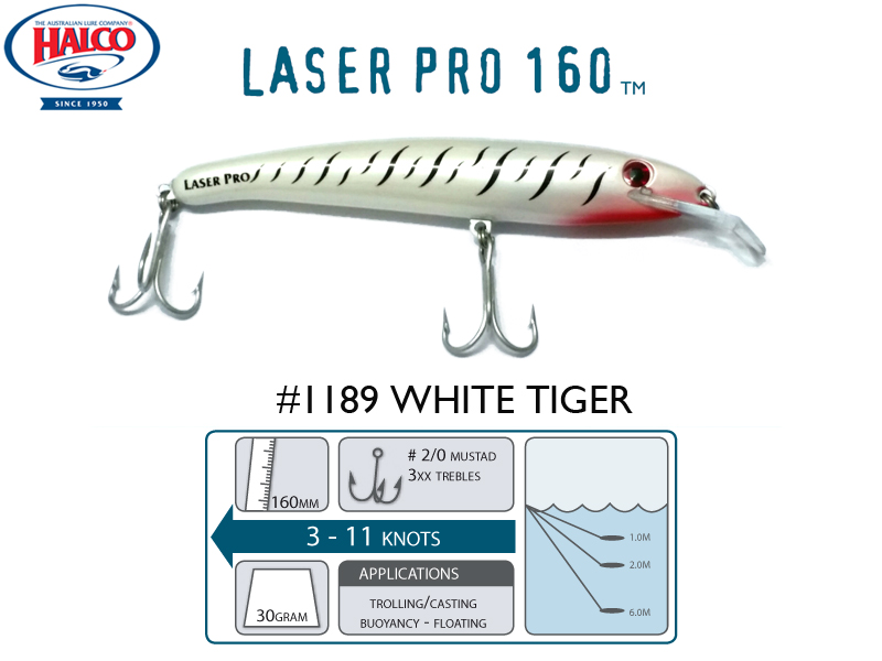 Halco Laser Pro 160 DD (160mm, 30gr, Color: 1189)