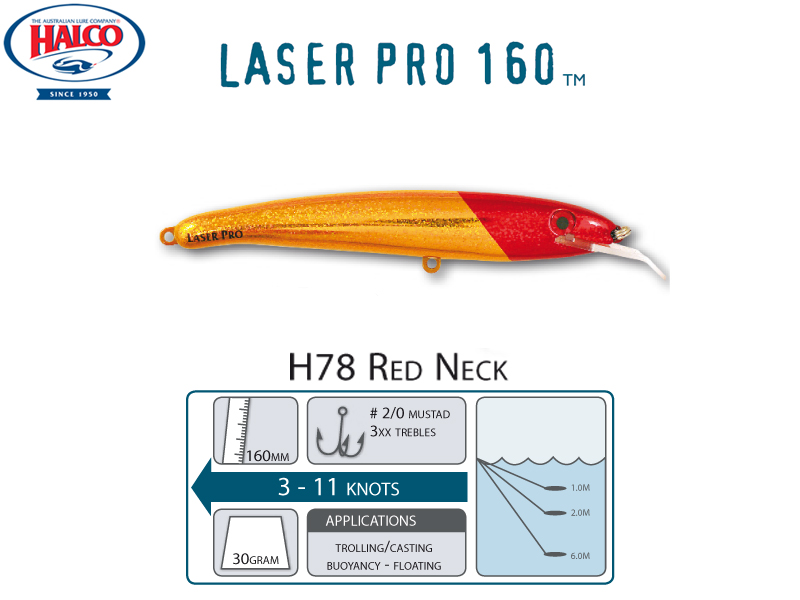 Halco Laser Pro 160 DD (160mm, 30gr, Color: H78)