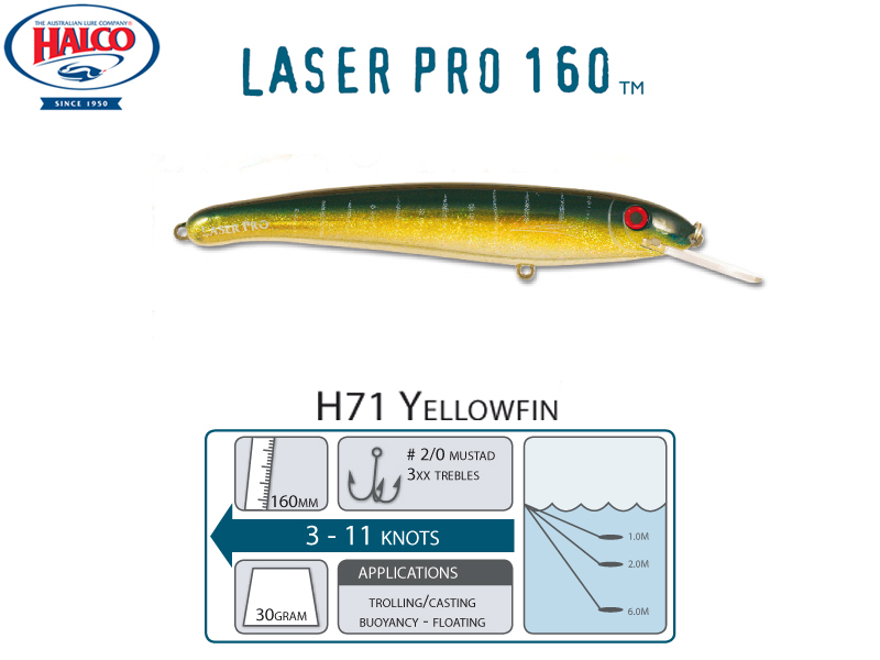 Halco Laser Pro 160 DD (160mm, 30gr, Color: H71)