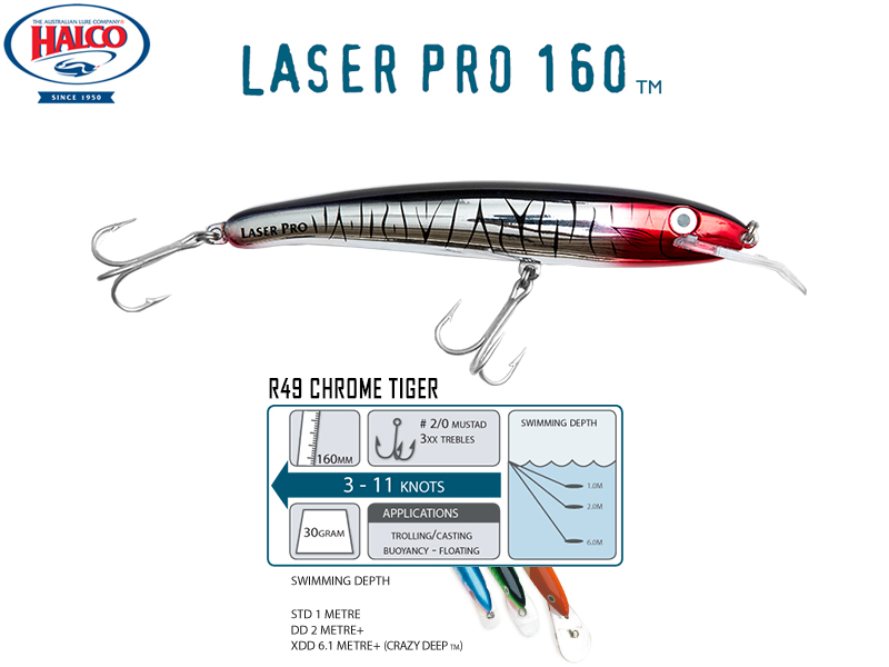 Halco Laser Pro 160 DD (160mm, 30gr, Color: R49)