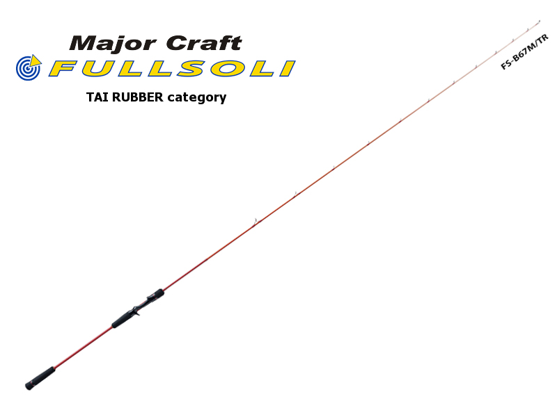 Major Craft Fullsoli Tairubber Category FS-B67M/TR (Length: 2.04mt, Lure: MAX 150gr)