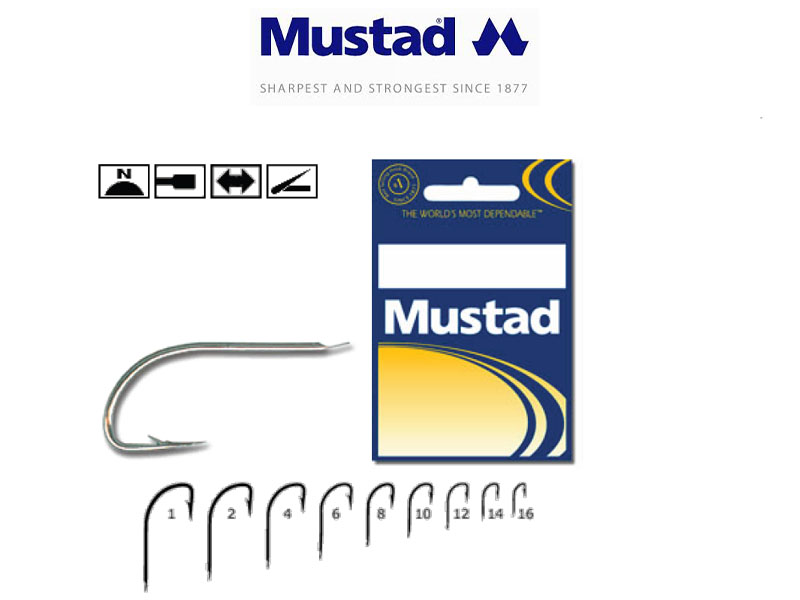 Mustad 220A-NI Hollow Point Crystal (Size: 10, Pack: 50)