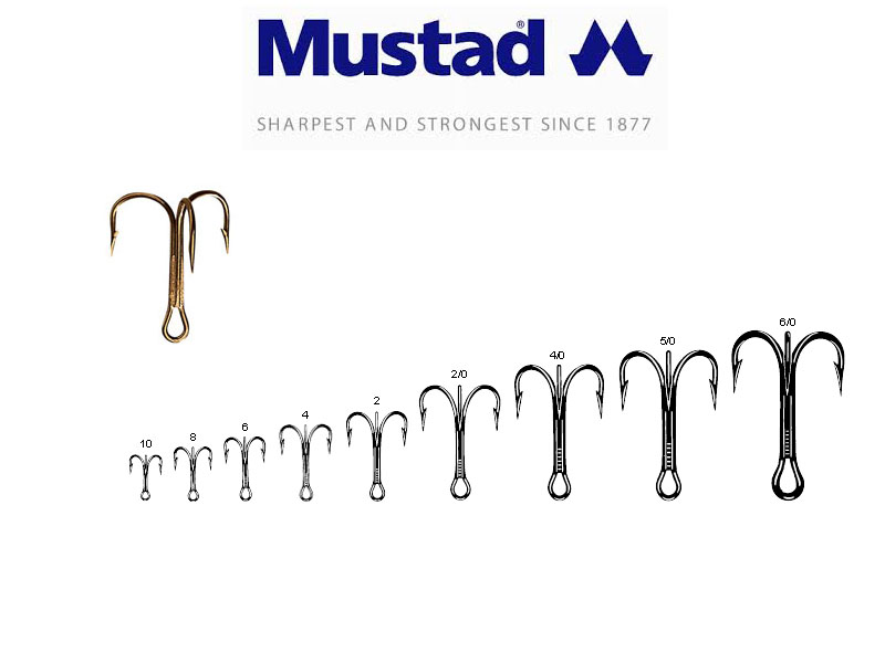 Mustad 3551 Classic Treble Hooks (Size: 18, Pack: 25)