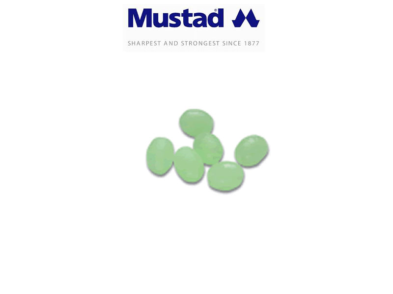Mustad 9966 Glowing Oval Beads (Size: 10X14mm, Pack: 15)