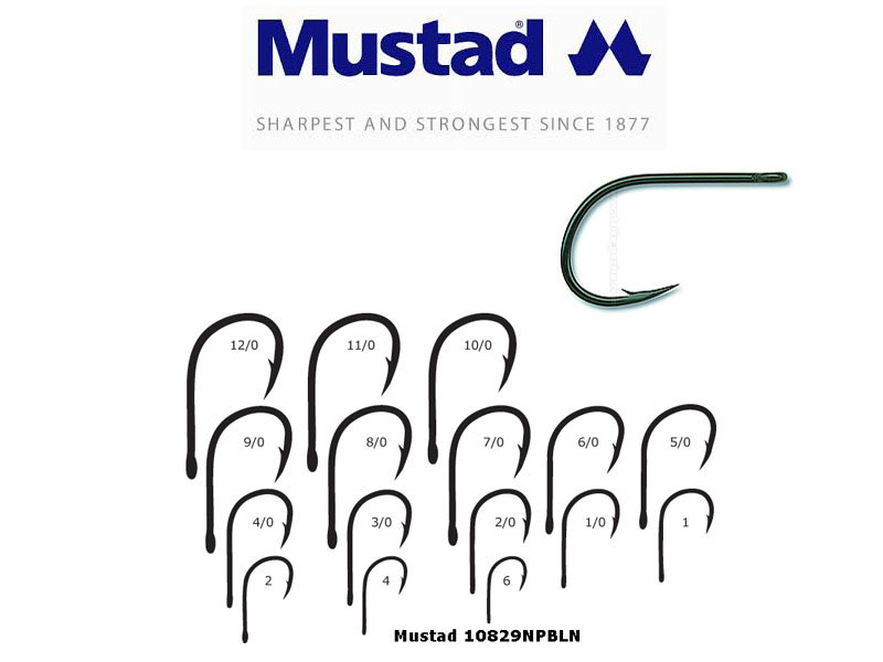 Mustad 24tackle fishing tackle online store for Fishing hook sizes for trout