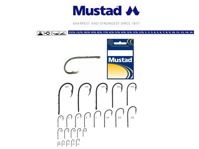 Mustad 92247 Baitholder Hooks (Size: 4/0, Colour: Nickel, Pack:5)