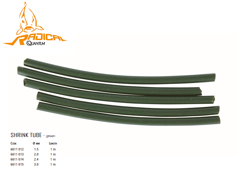 Quantum Shrink Tubes (Ø: 1.5mm, Length: 1m, Colour: Green)