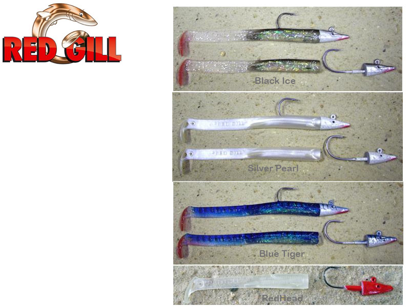 Red Gill V8 Jig ( Length: 13cm, Weight: 11g, Color: Black Ice, Pack: 3 Jig Heads, 5 Bodies)