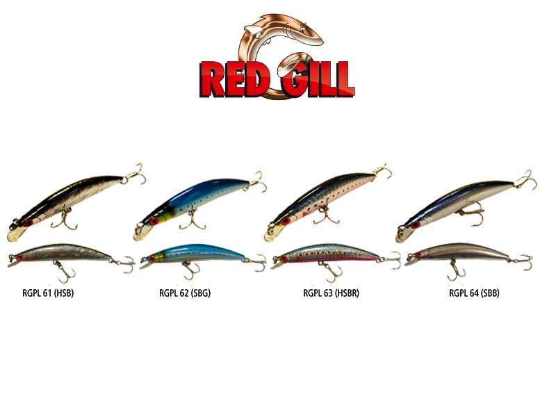 Red Gill Swinging Minnow (Length: 90mm, Weight: 8g, Model: RGPL61-HSB, Pack: 1pcs)