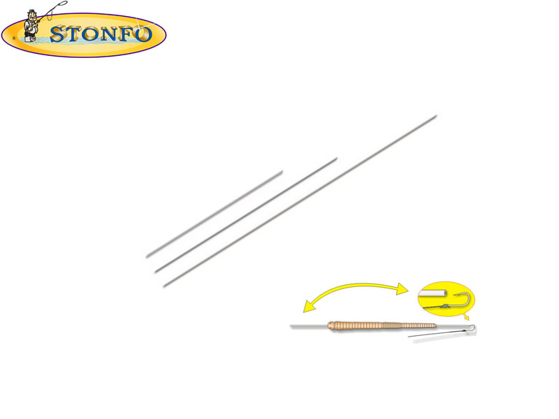 Stonfo Stainless Steel Needle W/Point (LENGTH cm 15, 5pcs)